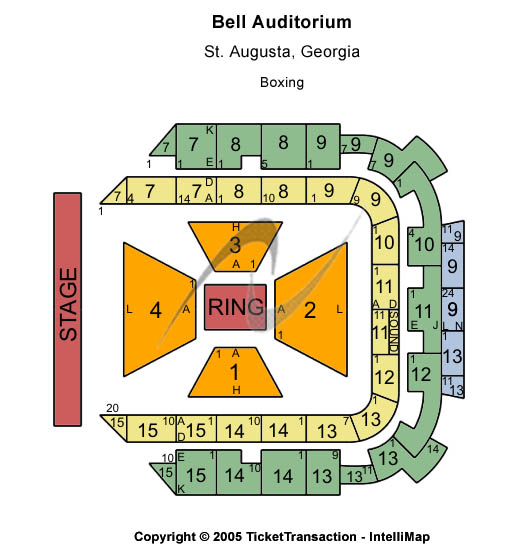Bell Auditorium Seating Charts Tickets