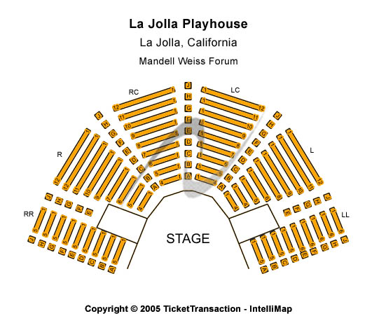 La Jolla Playhouse Seating Charts